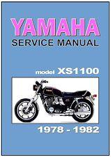 YAMAHA Workshop Manual XS1100 & Venturer 1978 1979 1980 1981 1982 Service Repair