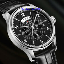 43mm Parnis Miyota 9100 Movement Sapphire Glass Day Date Month Automatic Watch