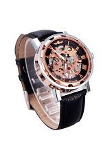 Y8 Winner Skeleton Zifferblatt Hand-Wicklung Sport-Armee-Uhr Schwarz Rosa Golden