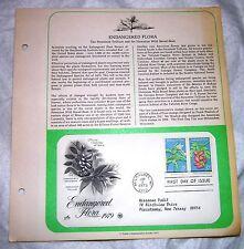 ENDANGERED FLORA Official First Day Issue ARTCRAFTs PCS 1979 15c Scott 1783 1784