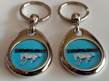 FORD BRONCO KEYCHAIN 2 PACK DOUBLE SIDED FOB LOGO BLUE