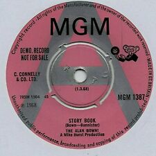 "THE ALAN BOWN - STORY BOOK 7"" 45 VINYL Rare 1968 UK Demo Promo Single Mod Psych"