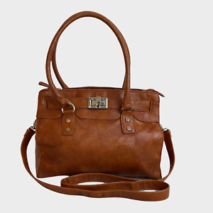 ALDO Ladies Womens Bag Large Brown Satchel Tote Grab Handbag