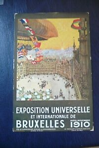 BRUSSELS 1910 UNIVERSAL EXPOSITION POSTCARD