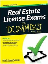 Real Estate License Exams for Dummies by John A. Yoegel (2013, Paperback)