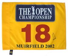 2002 BRITISH OPEN Winner - ERNIE ELS - Signed GOLF FLAG