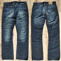 Verkauf% NUDIE JEANS Herren Jeans W33 L34 Regular Ralf Blue Black Denim Bootcut