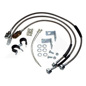 "STAINLESS STEEL Brake Hose Kit UPTO 6"" Lift for Jeep Wrangler YJ TJ Cherokee XJ"