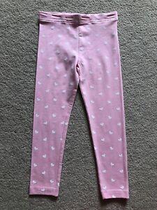 BNWT girls leggings bottom trousers size 3 4 years harts pink