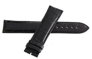Genuine Arnold & Son 22mm x 20mm Black Alligator Leather Watch Band Strap