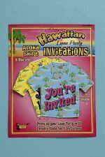 ALOHA SHIRT PARTY INVITATIONS  12 pcs Hawaiian Luau Party Birthday BBQ      7-5B