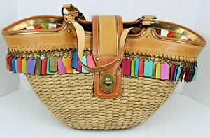 65th Anniv Coach XXL Legacy Lily Straw Basket Tote 10749 Limited Release of 800