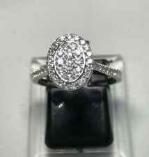 GENUINE HALF CARAT .50CT DIAMOND HALO CLUSTER DRESS RING VALUATION $4,570