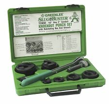 "NEW GREENLEE 7238SB USA MADE SLUG-BUSTER RATCHET WRENCH KNOCK OUT SET 1/2""-2"""
