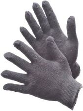 72 PAIRS STRING KNIT GLOVES 500G COTTON / POLYESTER BLEND GRAY- LARGE