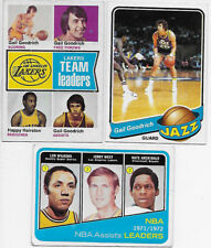 NBA BASKETBALL 3 CARDS LOT WEST '72 #176 GOODRICH '79 #32 LAKERS LDR '75 #90