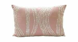 Mother Of Pearls 12x18 in Art Silk Pink Lumbar Oblong Pillow Cover-Angelic Soft