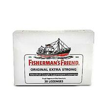 6 Pack Fishermans Friend Original Extra Strong Menthol 38 Lozenges Each