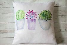 "Pretty Cactus Macetas - 16"" Funda De Cojín botánico Shabby Vintage Chic"