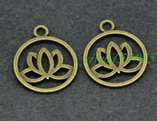 Tibetan silver charm pendant Beautiful fashion lotus 10-200pcs 15x7mm 1.6g