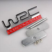 Metal WRC Badge Front Grill Hood Sports Racing FIA World Rally Skoda Subaru New