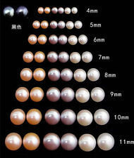 new Fashion Women's Genuine Natural Freshwater Pearl 925 Silver Stud Earrings