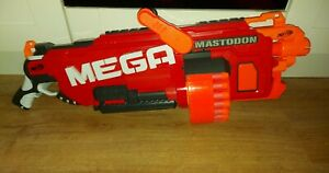 NERF N-Strike Mega Mastodon Blaster with full magazine bullets.