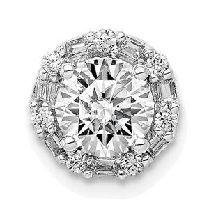 Lex & Lu 14k White Gold Diamond Semi-mount Pendant LAL3123