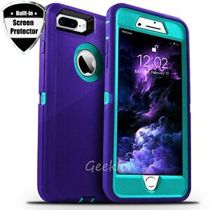 For iPhone 6 7 8 Plus SE 2020 Shockproof Rugged Case Cover + Screen Protector