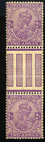 BRITISH INDIA Sc 84 a (2 stamps w/gutter) MNH - VF