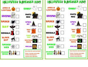 Halloween Scavenger Hunt, Fun Halloween Party,