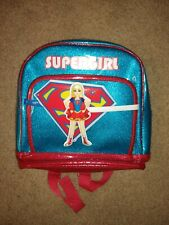 Dc Comic Super Hero Girls Supergirl Blue and Red Backpack Nwot