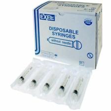5 Ml Sterile Exel Syringe Luer Lock Only No Needle 5 Single Syringes