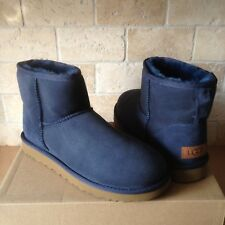 UGG Classic Mini II 2 Navy Suede Sheepskin Ankle Boots Size US 8 Womens NIB