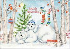 *CAROLA PABST*Doppelkarte*Weihnachten*Süße Eisbären*.