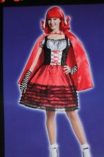 ADULT WOMENS WICKED LITTLE RED RIDING HOOD OSFM ONE SIZE HALLOWEEN COSTUME