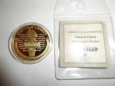 CHALLENGE COIN TOKEN STATUE OF LIBERTY LIGHTING THE PATH TO FREEDOM BEAUTIFUL