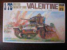 MAQUETTE 1/76 VINTAGE FUJIMI BRITISH TANK VALENTINE  WWII MILITAIRE