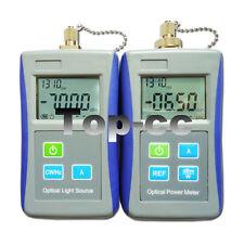 Fiber Optical Light Source &Handhe Optical Power Meter with FC Adapter FTTH Tool