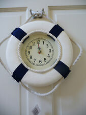 Seaside Themed Nautical Lifebouy / Lifering Wall Clock NEW