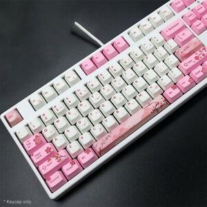 New 104 Key for Cherry MX Keyboard Korean Russian Backlit Keycap Profile Keycaps