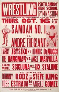 SAMOAN NO. 1 VS ANDRE THE GIANT 8X10 POSTER PHOTO WRESTLING PICTURE WWF
