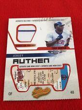 2003 Fleer Authentix Torii Hunter Game Used Jersey! Rare Twins Great! Hofer?