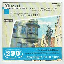 """W.A MOZART Vinyle 45T 7"""" PETITE MUSIQUE DE NUIT Symphonie WALTER  PHILIPS 99 843"""