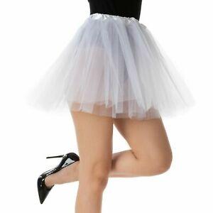 White TUTU Ballet Halloween Angel Costume Fancy Dress Womens Girls Elasticated