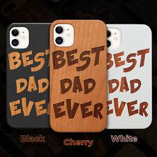Best Dad Ever Wood Case iPhone 13/12/11/11 Pro/Max/Mini, X/XR/XS Max