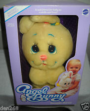 #8887 RARE Vintage Mattel Angel Bunny Snuggle Bunny Infant Plush