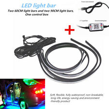 RGB Car Cab Interior Under Dash Lights 12LED Phone App Remote Control Glow Strip
