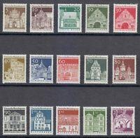 Germany 1966 MNH Mi 489-503 Sc 936-951 Tourism.Architecture.Famous buildings **