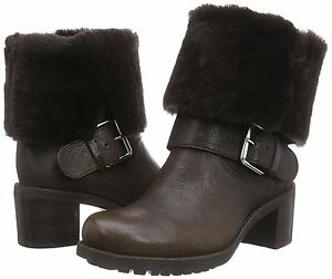 Clarks Pilico Place, Women's Biker Boots, Dark Brown Leather various sizes